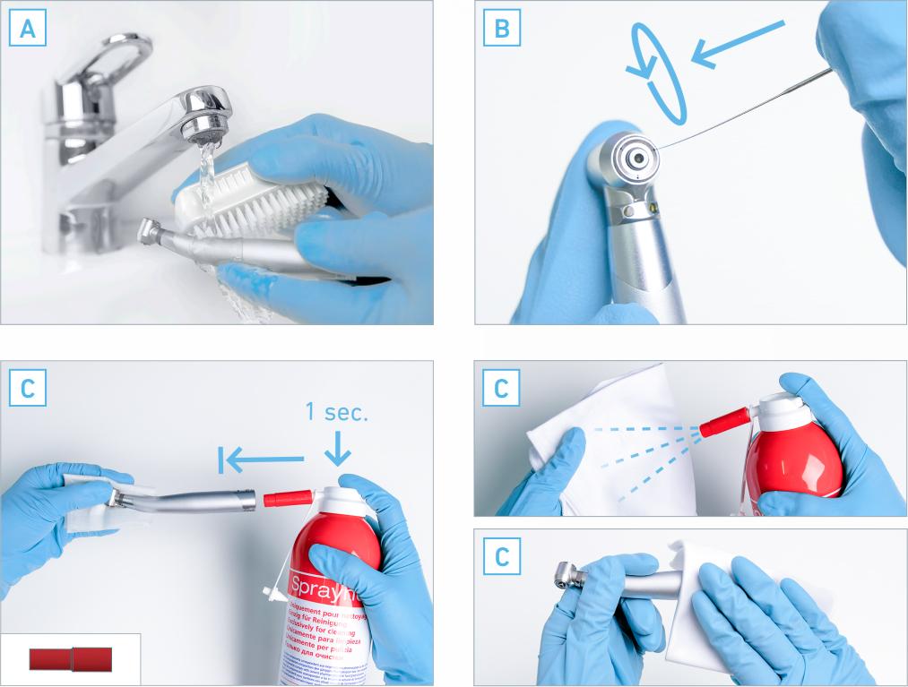 L'atelier dmd : Entretenir ses turbines dentaires nettoyage